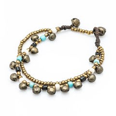 Hill Tribe Silver Color Bead And Charm Bracelets 11