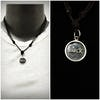 Sterling Silver Thai  Necklace Pendant Solid Luck Circle