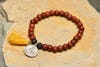 Ohm Silver Charm With Budhi Wooden Beads From Nepal
