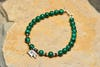 Hand Made Tibetan Elephant Mala Bracelet With Malachite Beads