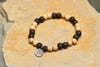 Ying Yang Silver Charm With Budhi Wooden Beads From Nepal