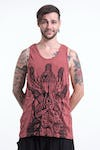 Sure Design Mens See No Evil Buddha Tank Top Brick