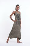 Womens Dreamcatcher Long Tank Dress in Green