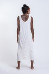 Womens Infinitee Om Long Tank Dress in White