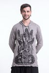 Sure Design Unisex See No Evil Buddha Hoodie Gray