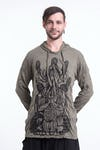 Sure Design Unisex See No Evil Buddha Hoodie Green