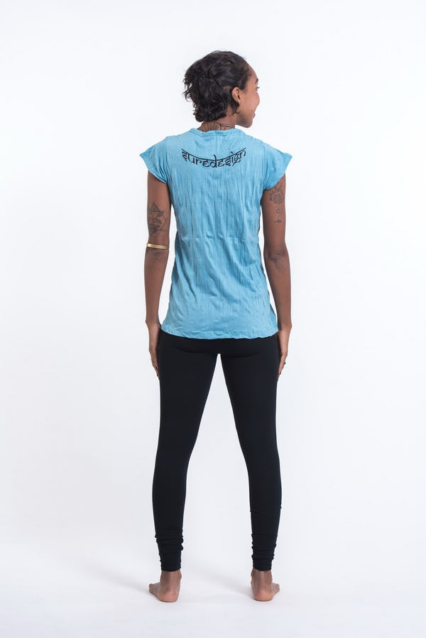Womens See No Evil Buddha T-Shirt in Turquoise