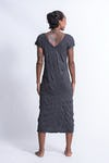 Sure Design Womens Lotus Mandala V Neck Tee Dress Silver on Black
