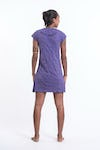 Sure Design Womens Big Face Ganesh Dress Purple