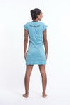 Sure Design Womens Butterfly Buddha Dress Turquoise