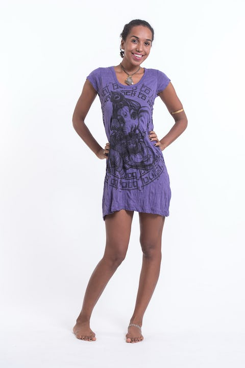 Sure Design Womens Baby Ganesh Dress Purple