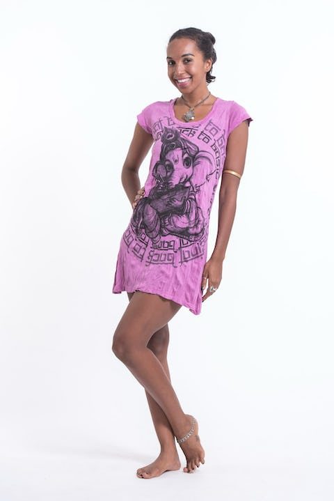 Sure Design Womens Baby Ganesh Dress Pink