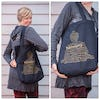 NEW Recycled Cotton Canvass Shopping Tote Bag Harmony Gold on Black