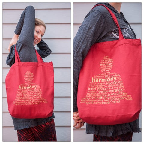 NEW Recycled Cotton Canvass Shopping Tote Bag Harmony Red