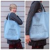 NEW Recycled Cotton Canvass Shopping Tote Bag Harmony Light Blue