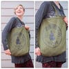 NEW Recycled Cotton Canvass Shopping Tote Bag Yoga Green