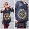 NEW Recycled Cotton Canvass Shopping Tote Bag Om Black