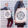 NEW Recycled Cotton Canvass Shopping Tote Bag Om Natural