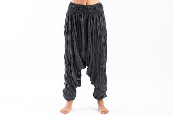 Super Soft Sure Design Harem Pants in Black