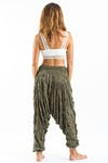 Super Soft Sure Design Harem Pants in Green