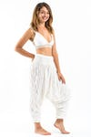 Super Soft Sure Design Harem Pants in White