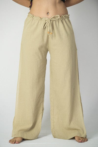 5b645f4c Thailand Super Soft Organic Cotton Double Tiered Pants Tan | Sure Design