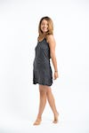 Sure Design Womens Solid Tank Dress Black