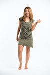 Sure Design Womens Peace Sign Dress Green