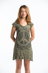 Womens Peace Sign Dress in Green
