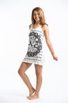 Sure Design Womens Ganesh Mandala Tank Dress White