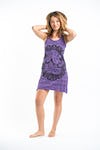 Sure Design Womens Ganesh Mandala Tank Dress Purple