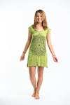 Sure Design Womens Lotus Mandala Dress Lime