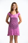 Sure Design Womens Lotus Mandala Dress Pink
