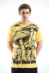 Sure Design Mens Mushroom T-Shirt Yellow