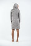 Sure Design Women's Antique Buddha Hoodie Dress Gray