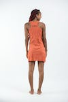 Sure Design Womens Butterfly Buddha Tank Dress Orange