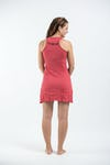 Sure Design Womens Big Face Ganesh Tank Dress Red