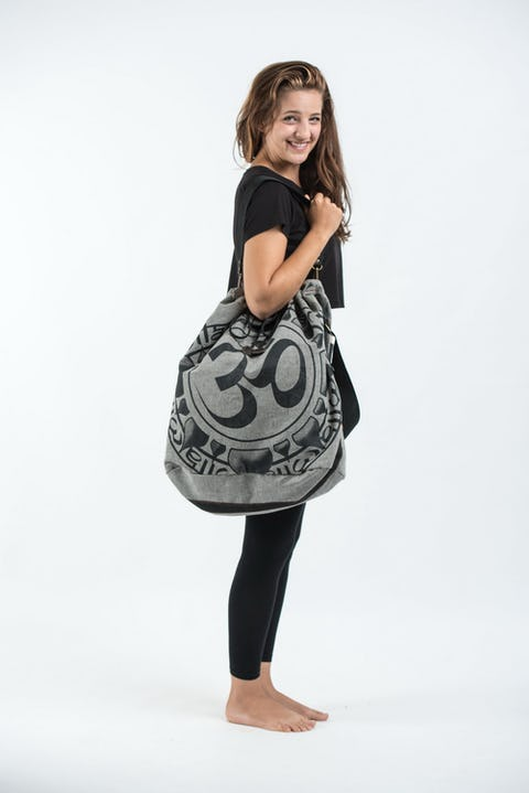 Infinitee Ohm Denim Drawstring Tote Bag
