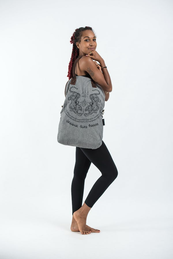 Thai Tattoo Denim Everyday Tote Bag