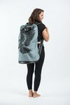 Eagle Denim Oversize Backpack in Denim Blue