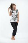 Womens Big Face Ganesh T-Shirt in White