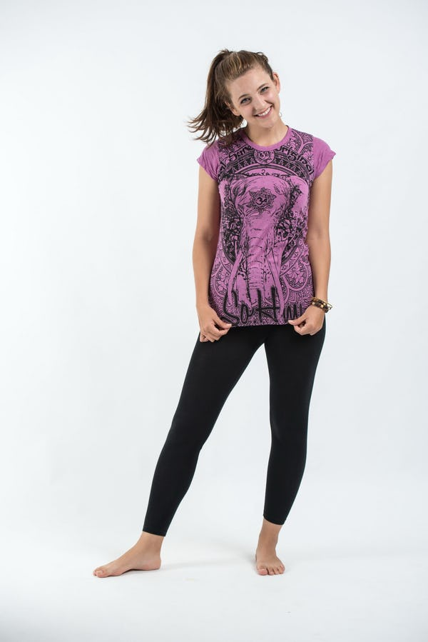 Sure Design Womens Wild Elephant T-Shirt Pink
