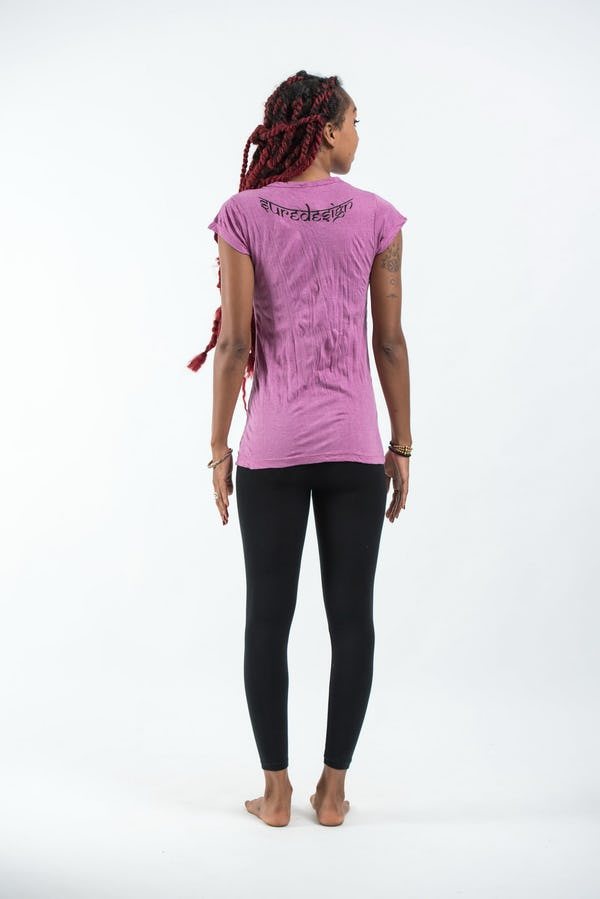 Sure Design Womens  T-Shirt Eye In Palm Pink