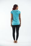 Sure Design Womens Infinitee Yoga Stamp T-Shirt Turquoise