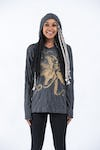 Sure Design Unisex Octopus Hoodie Gold on Black