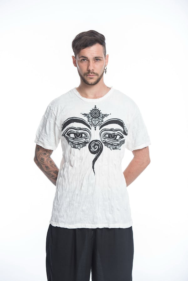 Mens Buddha Eyes T-Shirt in White