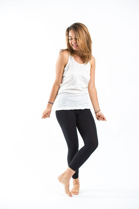 Womens Solid Color Tank Top in White