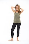 Sure Design Womens Solid Tank Top Olive