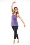 Sure Design Womens Solid Tank Top Purple