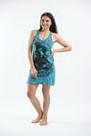 Sure Design Womens Baby Ganesh Tank Dress Turquoise